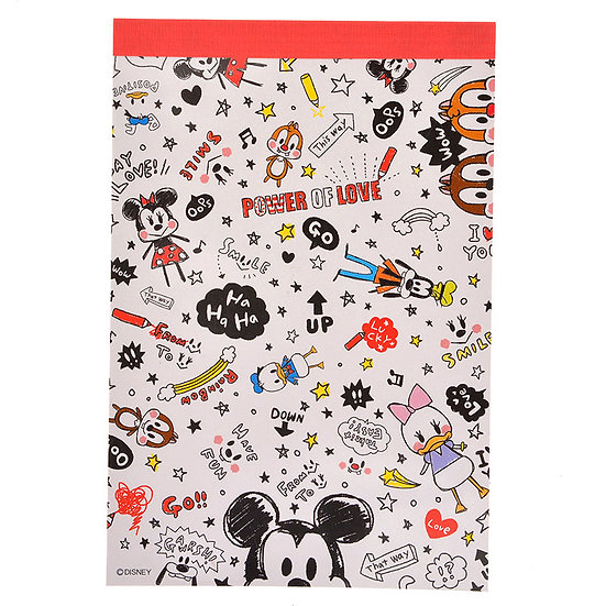 Memo Collection - Mickey and Friends A6 Memo Pad