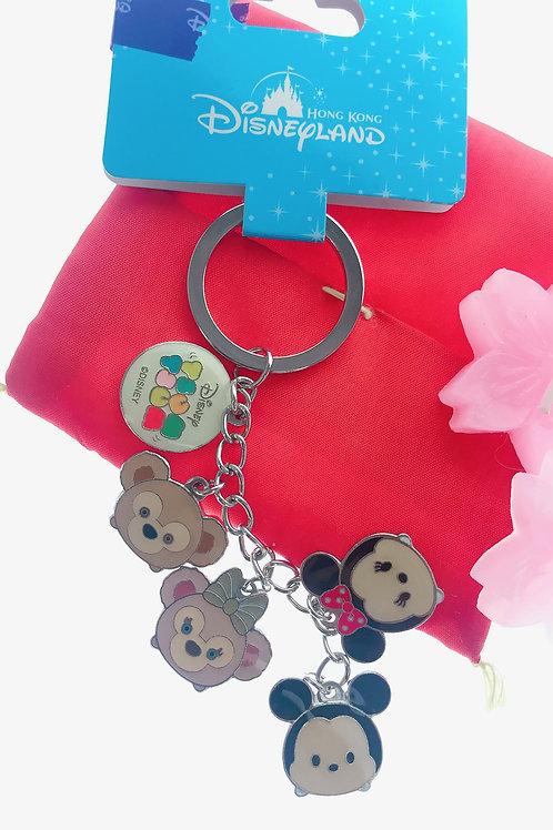 Ring Keychain collection -Tsum Tsum Mickey & Duffy Key Keychain