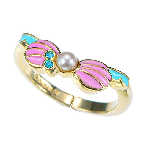 My Treasure Ring Story Series-  Little Mermaid Seashell Ribbon Pearl