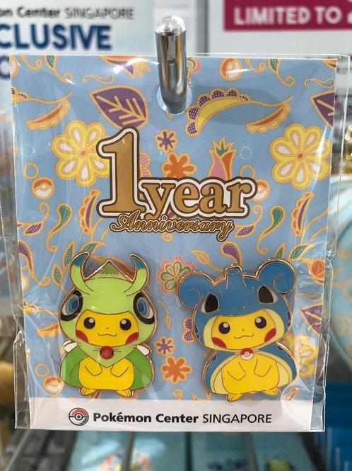 Pokemon [PO]- Pokémon Center Singapore 1st Year Anniversary Badge Pin