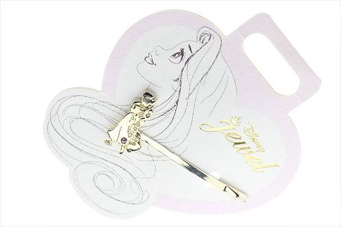 Hair Pin Collection - Rapunzel Flower shiny purple stone Charm Hair Pin