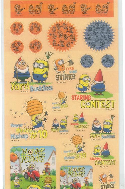 Long Pack Sticker Collection - Minions Garden Clear sticker