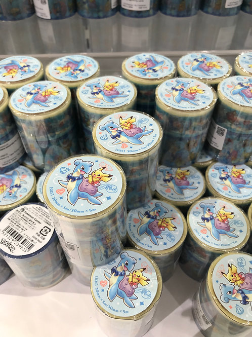 Pokemon [PO]- Singapore Jewel Changi Airport Pikachu & Lapras Washi Tape