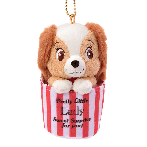 Plushie Keychain Series:  Lady popcorn