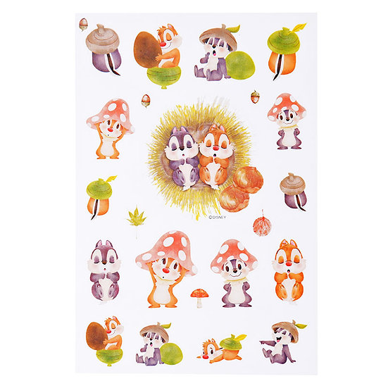 Disney Characters Sticker Collection - Chip & Dale Summer Joy