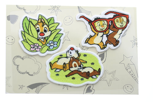 Embroidery DIY Sticker Collection - Chip & Dale Garden Embroidery Sticker