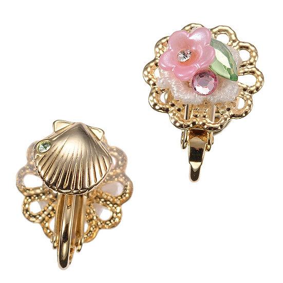 Single Earring series -  Reversible Flower Ariel