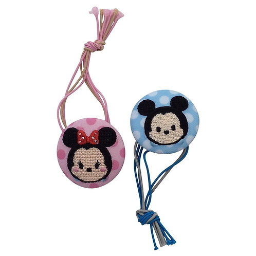 Disney Tsum Tsum Button : Mickey & Minnie Button Strip
