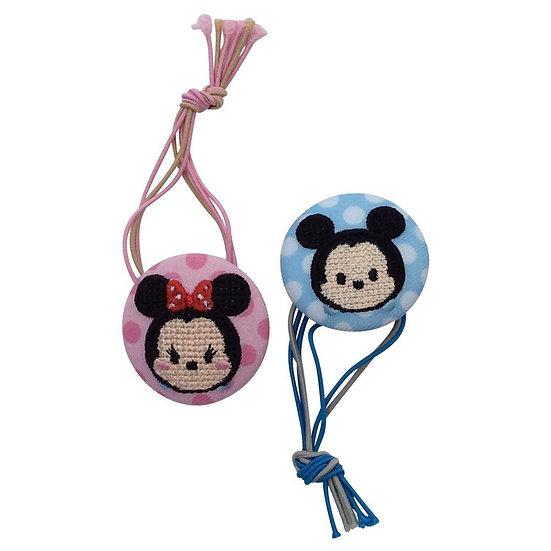 Disney Tsum Tsum Button : Mickey & Minnie Button Strip