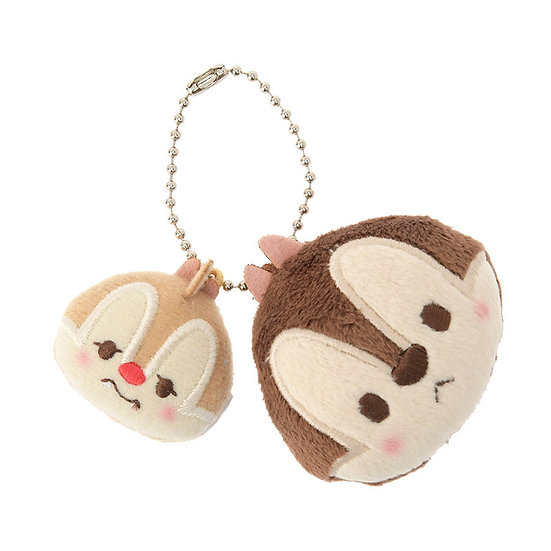 Plushie Keychain Collection - Cheeky Pink series Chip and Dale Plushie Keychain