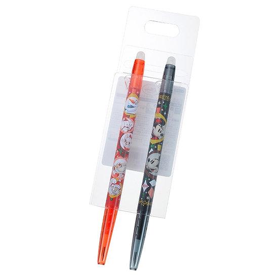 Frixion Series : White Christmas Mickey & Friends Disney 0.38 Frixion Pen Set