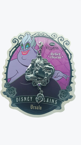 Lobster clasp keychain - Villains Relief Charm  Little Mermaid - Ursula