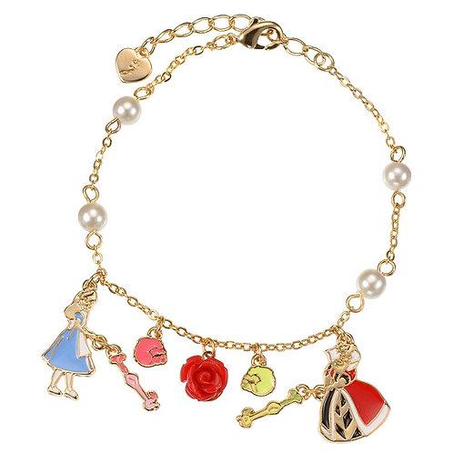 Bracelet series :  Alice in wonderland - Alice & Queen of Hearts