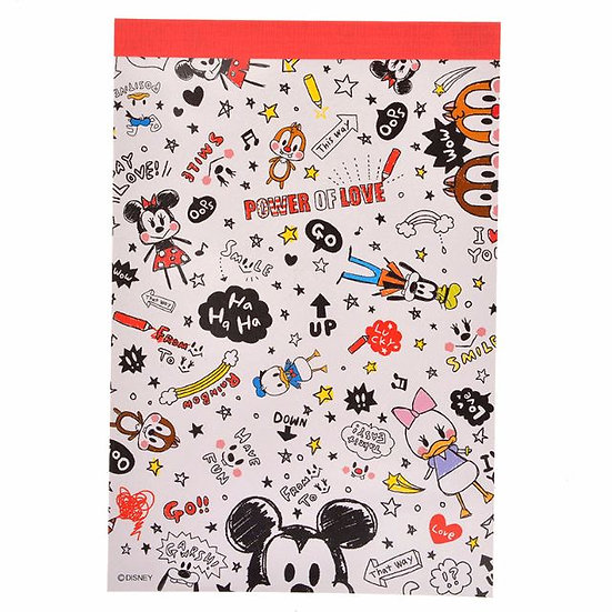 Memo Collection - A6 Memo pad Disney Mickey and Friends