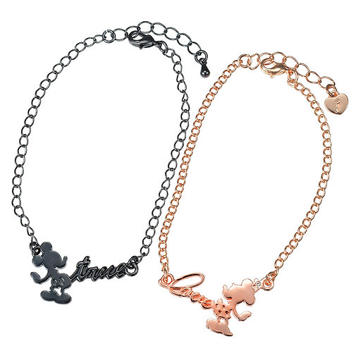 Mickey & Minnie Couple Love Silhouette Bracelet