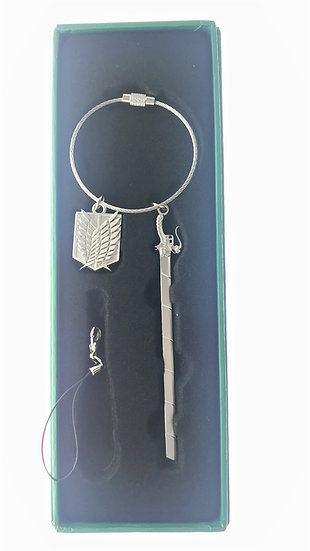 Ring Keychain collection - Attack on Titan Keychain - Levi Ackerman Sword