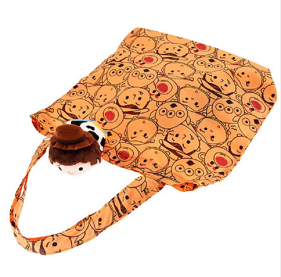 Eco Foldable Tote Bag Collection : Tsum Tsum Plushie Tote Bag Toy Story Woody