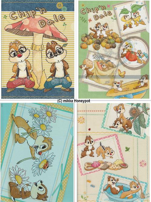 File Set Series: 4 PC Disney Chip And Dale Friendship File Set