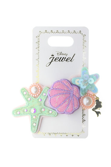Hair Snap Clip Collection - Little Mermaid Ariel Pearl Seashell and Starfish