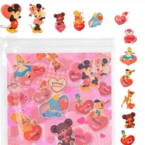 Sticker Pack Collection - Valentine Mickey & Friend Sticker sticker + pouch