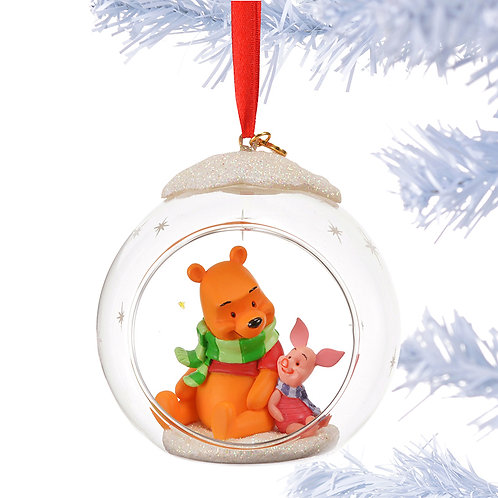 Home Decoration - Winnie the Pooh & Piglet Glass Ornament 2015