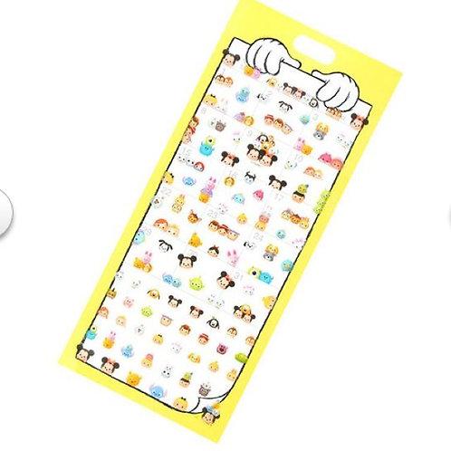 Long Pack Sticker Collection - Tsum Tsum Calendar 2 PC Decoration Clear Sticker