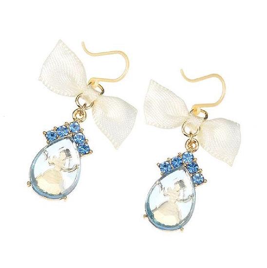 Earring Collection :  Cinderella Glass earring Teardrop Glass Earring