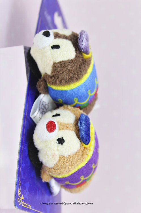 Hair Snap Clip Collection - Mini Tsum Tsum Disneyland 10 Anniversary Chip & Dale