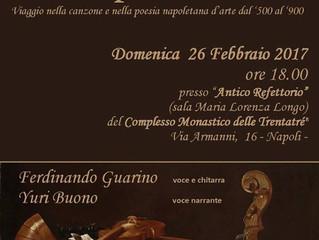 """""""ROSA, PRETA E STELLA"""" al monastero delle trentarè a Napoli 26/02/2017"""