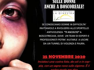 25 NOVEMBRE 2020 - GIORNATA INTERNAZIONALE CONTRO LA VIOLENZA  SULLE DONNE