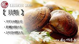 「貝類」 サザエの捌き方 牡蠣の開け方 とり貝の捌き方 各種の説明