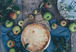 Pastel de manzana rústica