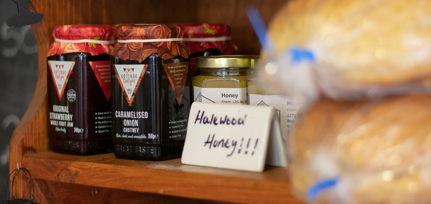 Local produce sold in The Coffee Barn