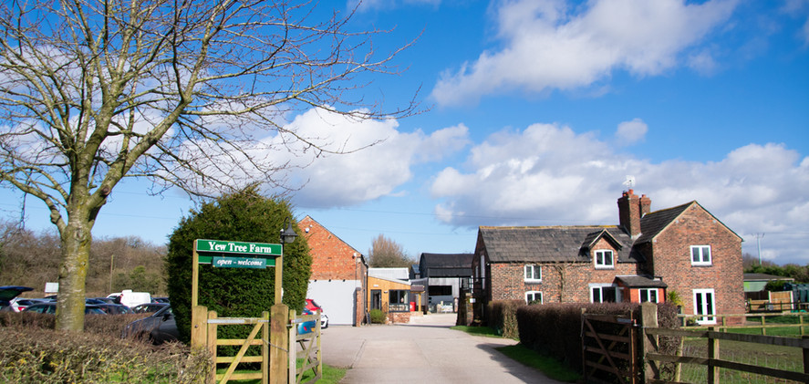 Entrance from the road to Yew Tree Farm