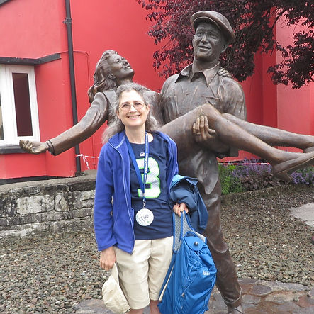 Susan in Cong, County Mayo, where The Quiet Man was filmed