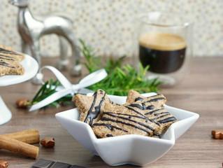 Glutenfreie, vegane Espresso-Zimtsterne
