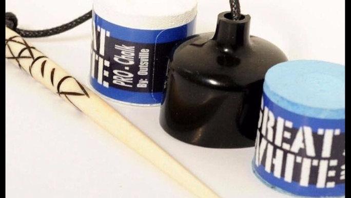MAKO BLUE GREAT WHITE CHALK POCKET CHALKER SET