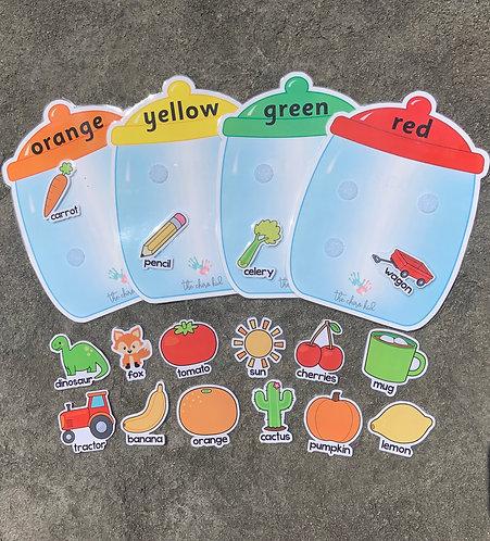 Colour Sorting Jars