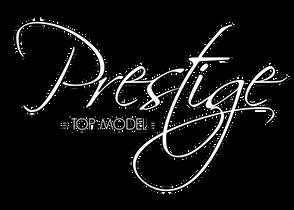 Prestige TOP MODEL Logo White with Black