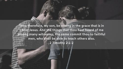 Thou therefore, my son, be strong in the