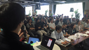 SPAJAM2015札幌予選の成果発表会の様子
