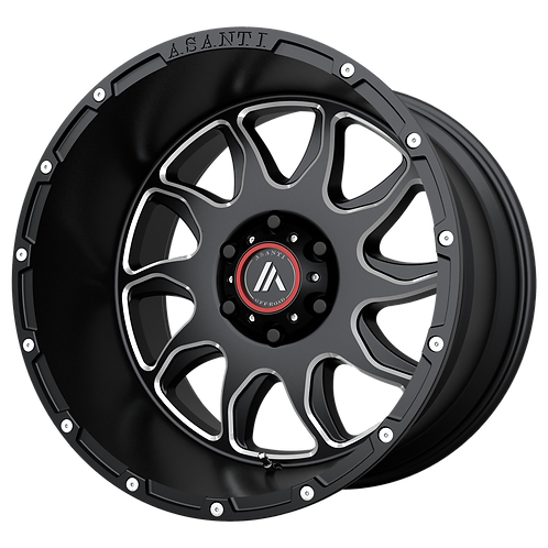 ASANTI OFF ROAD BALLISTIC GLOSS BLACK MILLED