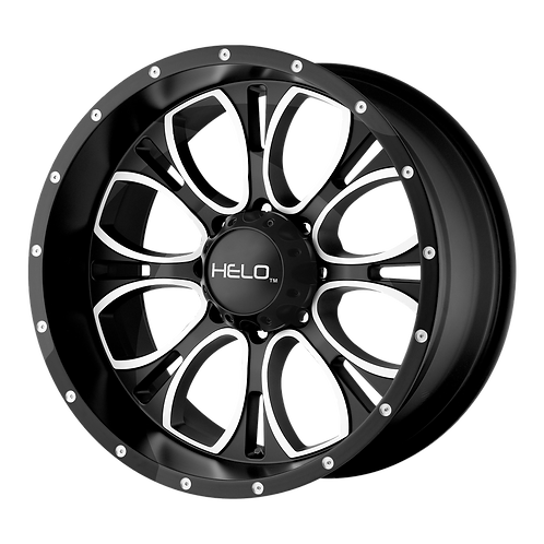 HELO HE879 GLOSS BLACK MACHINED & MILLED