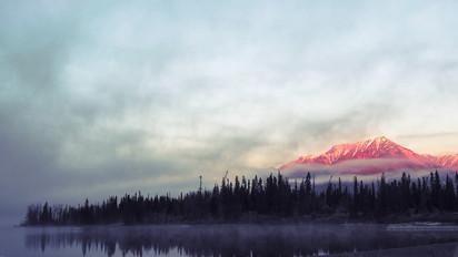 Sunrise at Kathleen Lake, YT