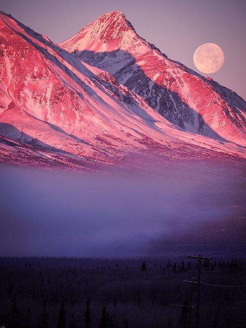 Mountain Moonset