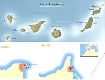 Islas Canarias, Ceuta y Melilla envíos de periódicos antiguos, gastos de envío de periódicos regalo a las Islas Canarias Ceuta y Melilla