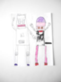 girls tech steam workshop robot drawing