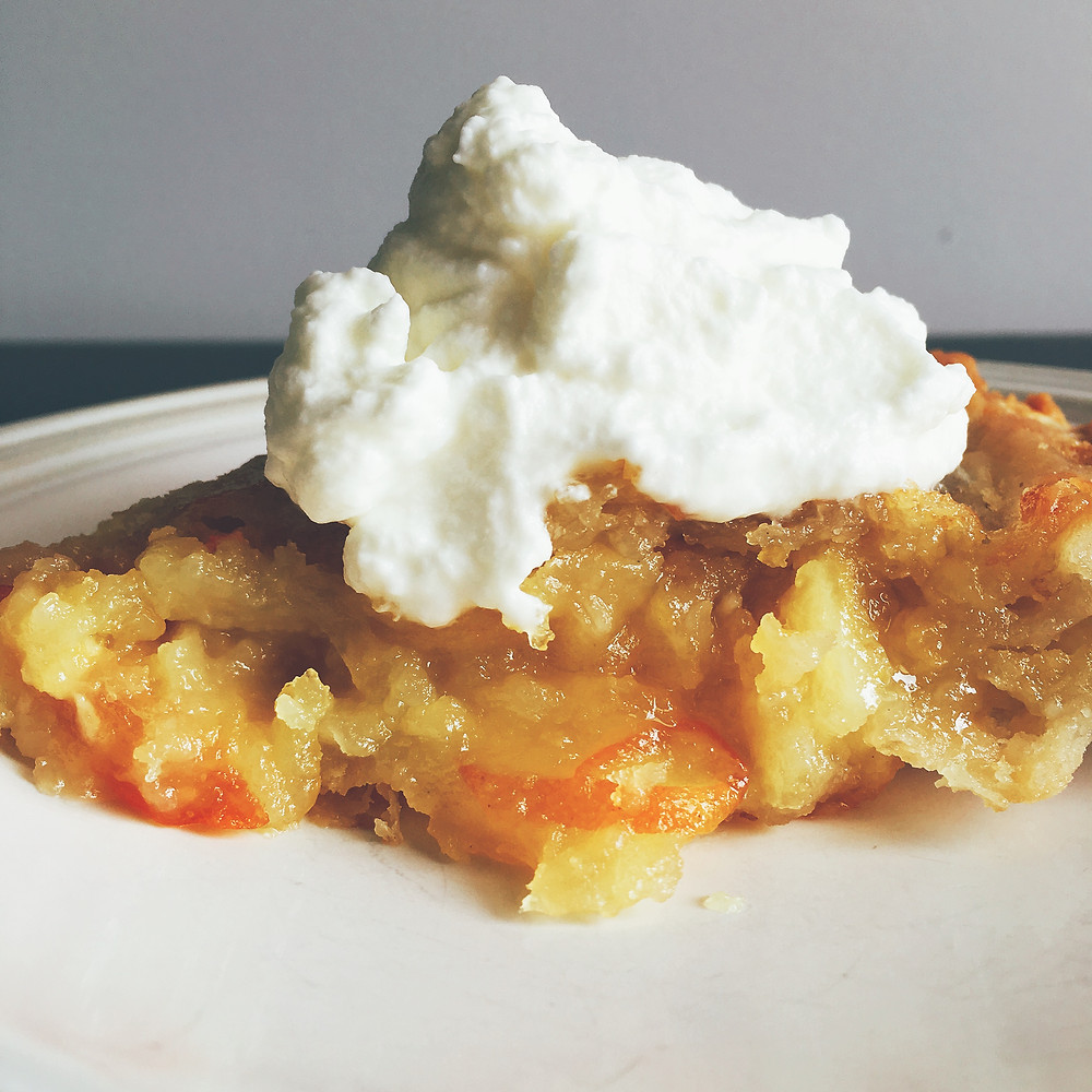 Shaker Lemon Pie with Whipped Cream