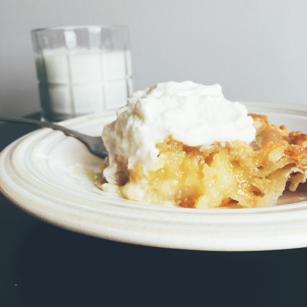 Shaker Lemon Pie with Milk