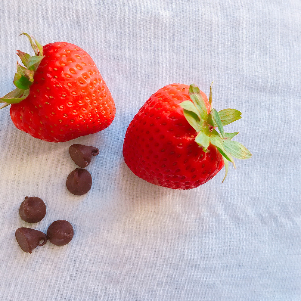 strawberries and chocolate chips